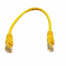 Патч-корд UTP, 0.25 м, кат. 5e, желтый