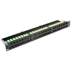 """Патч-панель 19"""" 48xRJ-45 UTP, cat 6, 1 Unit, с задним организатором"""