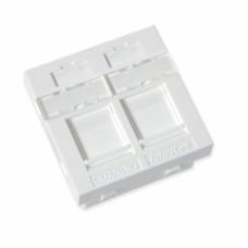Пластина 45Х45 для 2-х модулей LANscape, со шторками, Corning