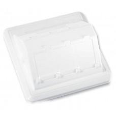Пластина 80x80 на 3 модуля LANscape с рамкой, белая, RAL9010, Ge style, Corning