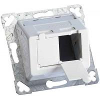 Пластина на 2 модуля LANScape, наклонная, белая RAL9010, Ge style, Corning