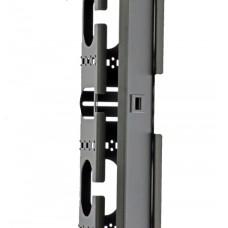 Боковой организатор кабеля с крышкой, для шкафов MGSE 42U, черный