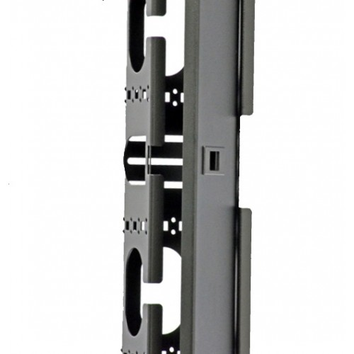 Боковой организатор кабеля с крышкой, для шкафов MGSE 45U, черный