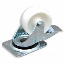 Колесо к шкафам (d80) на площадке с стопором, давление 150 кг/колесо