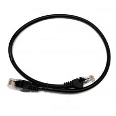 Патч-корд U/UTP, 0.5 метра, cat 5e, черный, L&W ELECTRONICAL