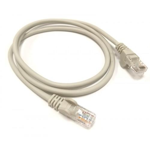Патч-корд U/UTP, 0.5 метра, cat 5e, серый, L&W ELECTRONICAL