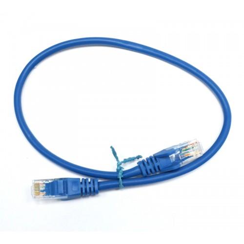 Патч-корд U/UTP, 0.5 метра, cat 5e, синий, L&W ELECTRONICAL