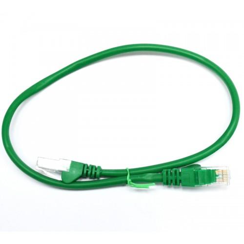 Патч-корд U/UTP, 0.5 метра, cat 5e, зеленый, L&W ELECTRONICAL