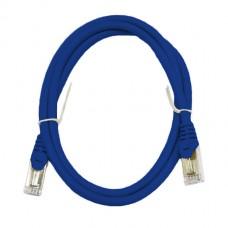 Патч-корд S/FTP, 0.5 метра, cat 6А, синий, L&W ELECTRONICAL