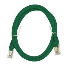 Патч-корд S/FTP, 0.5 метра, cat 6А, зеленый, L&W ELECTRONICAL