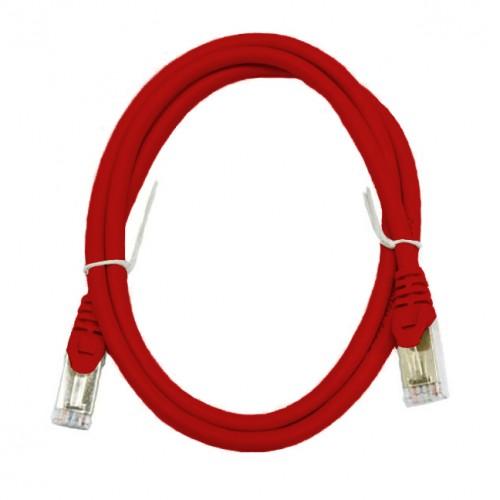 Патч-корд S/FTP, 0.5 метра, cat 6А, красный, L&W ELECTRONICAL