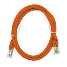 Патч-корд S/FTP, 1 метр, cat 6А, оранжевый, L&W ELECTRONICAL