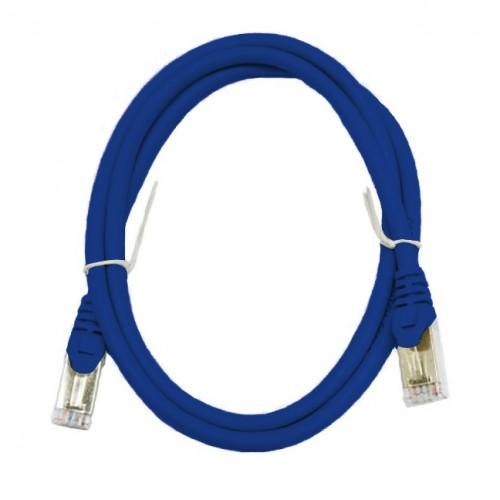 Патч-корд S/FTP, 1 метр, cat 6А, синий, L&W ELECTRONICAL