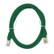 Патч-корд S/FTP, 1 метр, cat 6А, зеленый, L&W ELECTRONICAL