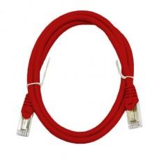 Патч-корд S/FTP, 2 метра, cat 6А, красный, L&W ELECTRONICAL