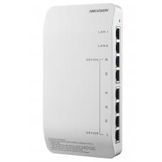 DS-KAD606-N Hikvision PoE коммутатор для домофонных IP систем