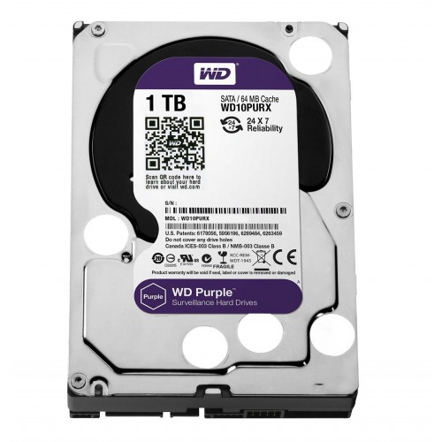 Purple WD10PURX 1TB Western Digital жесткий диск для видеонаблюдения