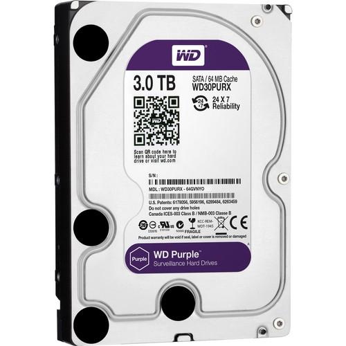 WD30PURX WD Purple 3TB Western Digital жесткий диск для видеонаблюдения