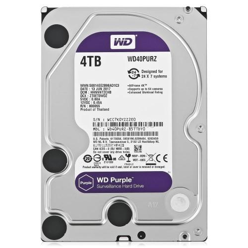 WD40PURZ WD Purple 4TB Western Digital жесткий диск для видеонаблюдения