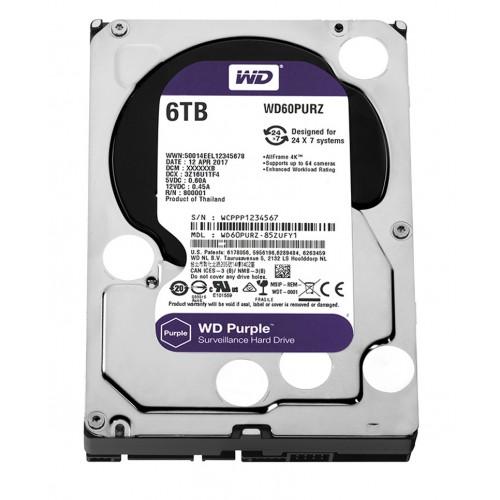 WD60PURZ WD Purple 6TB Western Digital жесткий диск для видеонаблюдения