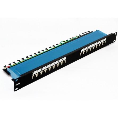 "Патч-панель 19"" 16xRJ-45 FTP, cat 6, dual type, EPNew"