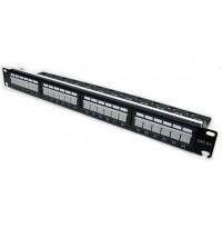 """Патч-панель 19"""" 24xRJ-45 UTP, cat 6а, з організатором, L&W ELECTRONICAL"""