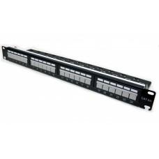 "Патч-панель 19"" 24xRJ-45 UTP, cat 6а, с организатором, L&W ELECTRONICAL"