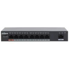PFS3009-8ET-96 Dahua 8-портовый не управляемый POE коммутатор