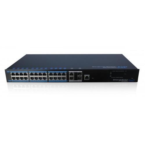 UTP7224E-POE-L2 Utepo управляемый POE коммутатор 24 порта
