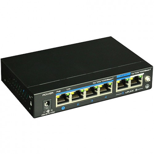 UTP3-GSW04-TPD60 Utepo 4-портовый неуправляемый POE коммутатор